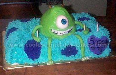 Monster Inc. Cake Photo