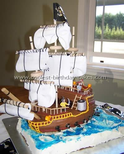 Homemade Pirate Ship Cake