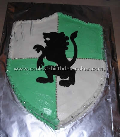 Knight's Shield Cake Photo